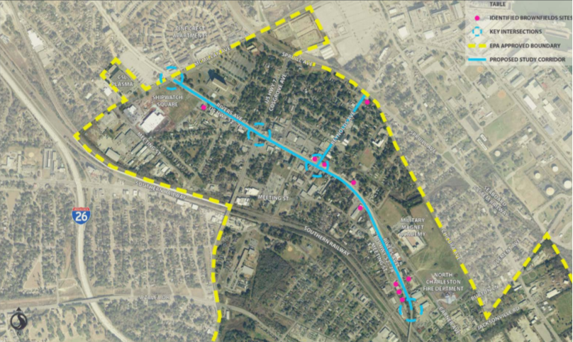 Rivers Avenue Connectivity Planning project map